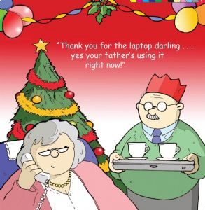 TW301 – Funny Christmas Card Laptop Tray